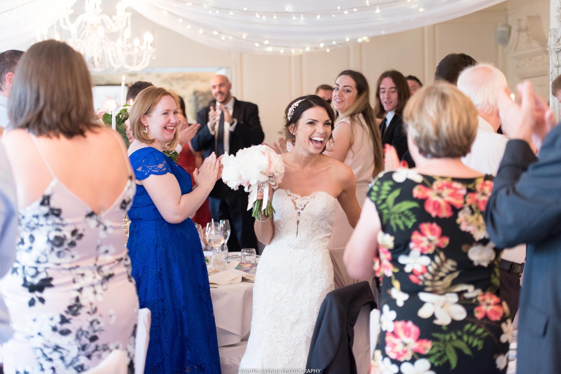 Bride entering the room