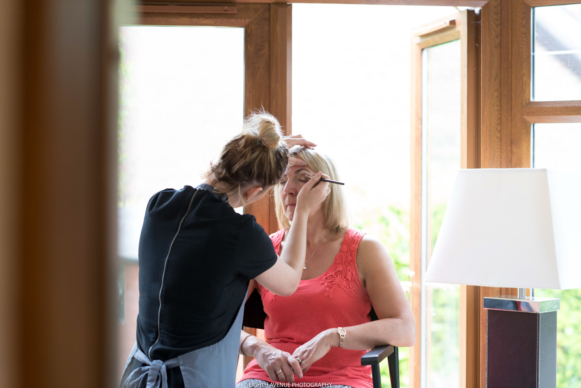 Mother of Bride getting ready for wedding