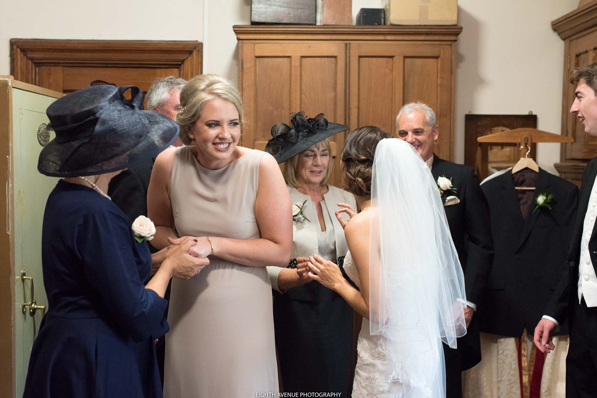 Bridesmaid in church