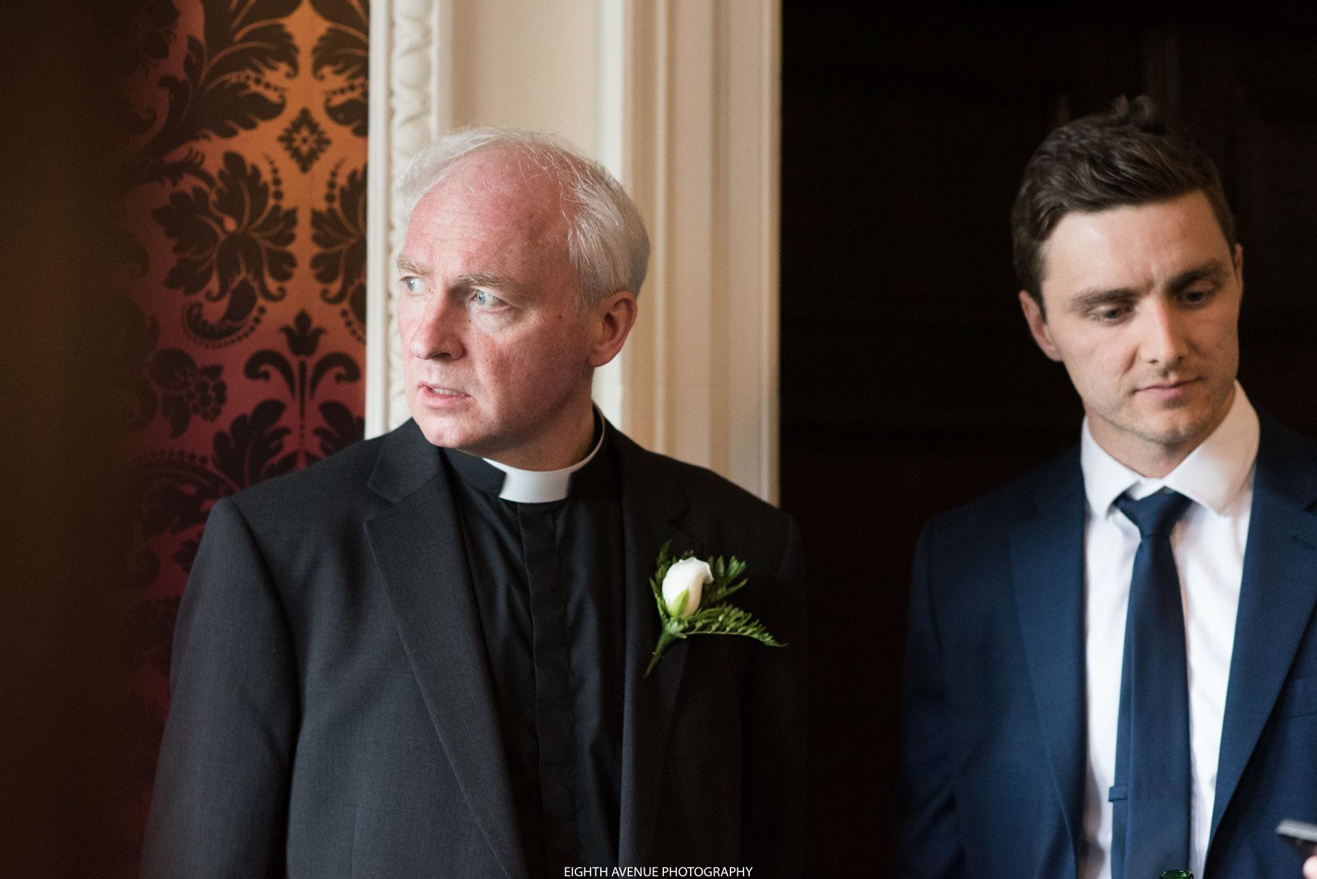 Vicar at wedding