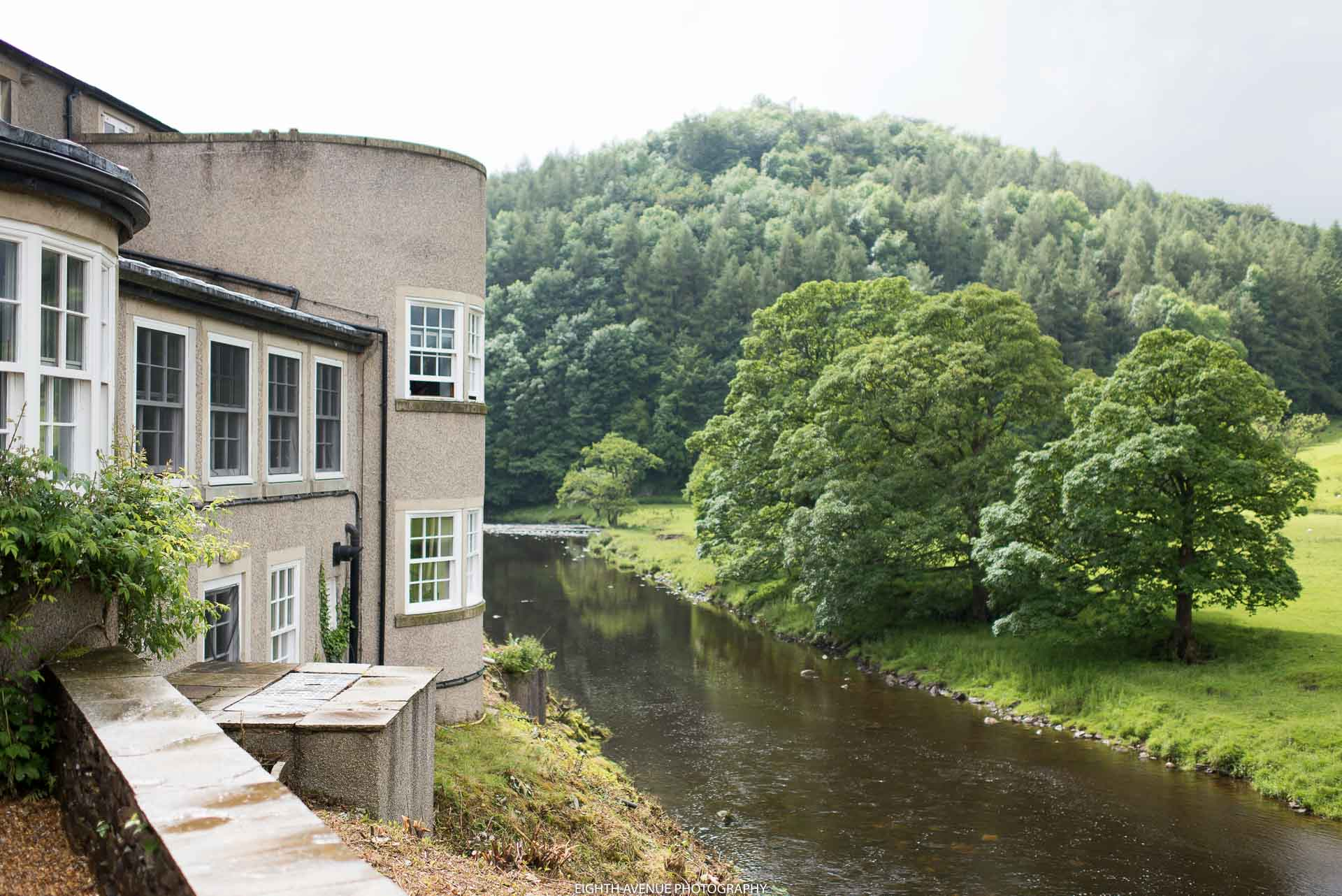 Inn at Whitewell views over the river