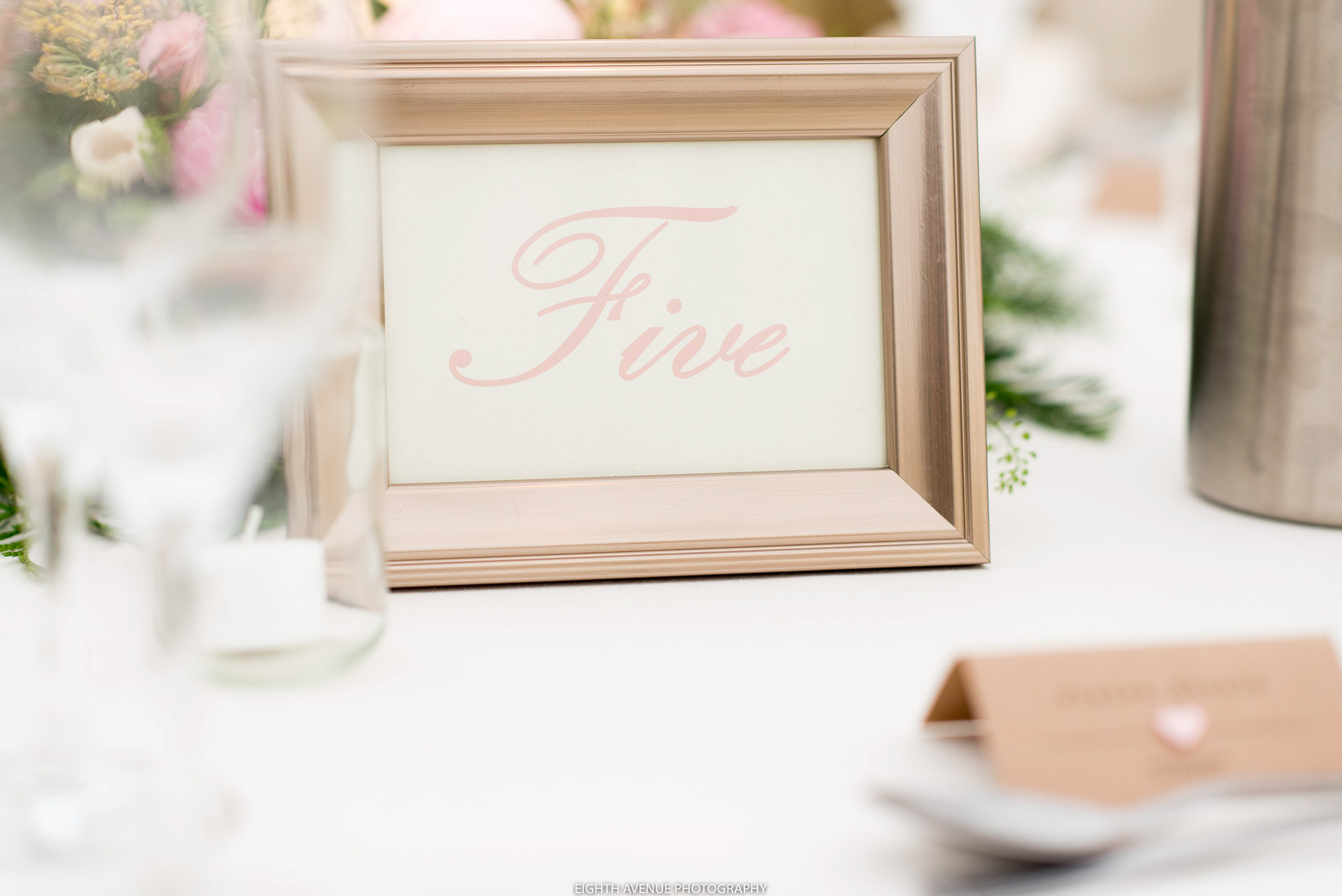 Table numbers for wedding breakfast