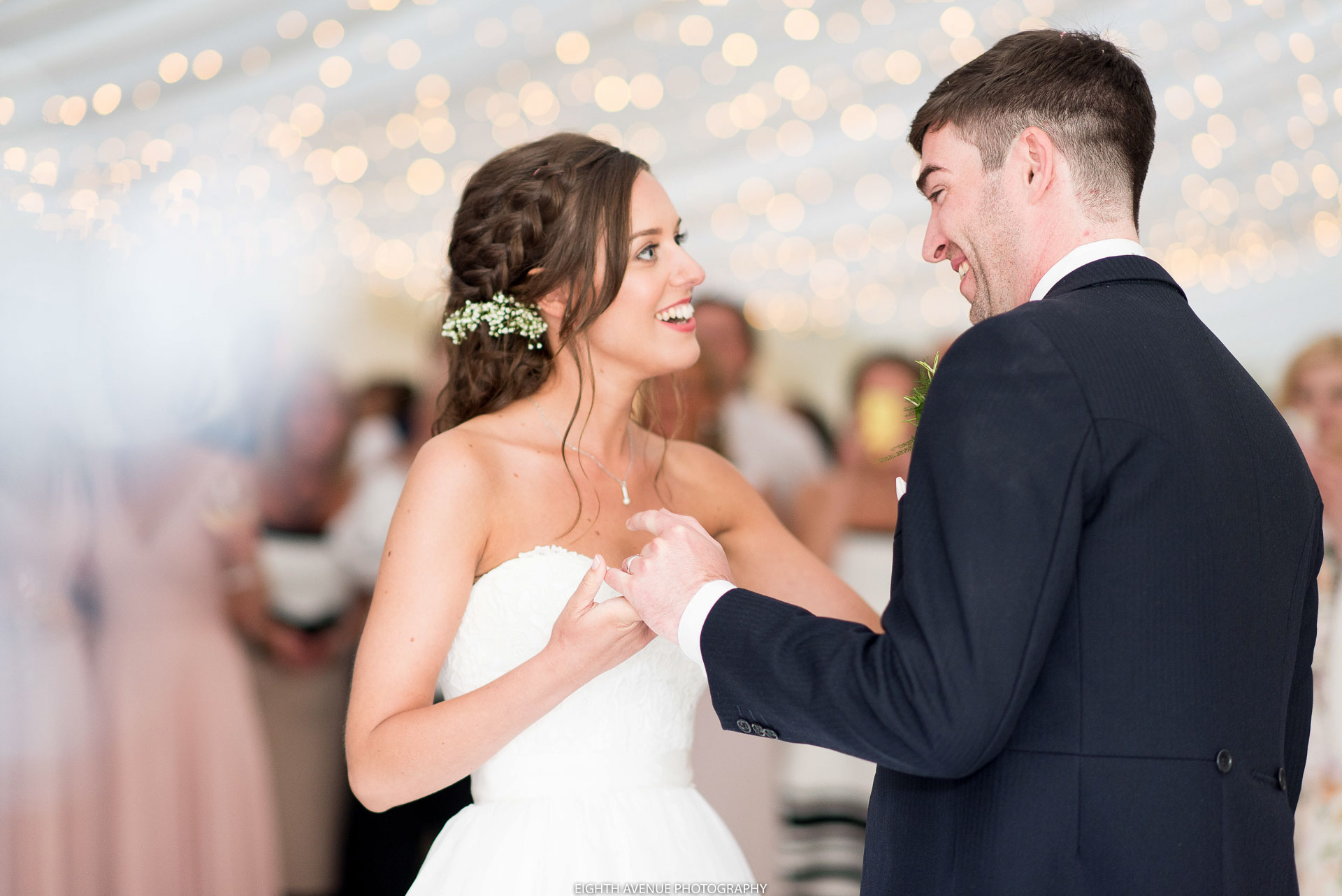 Bride and Groom first dance at the Inn at Whitewell wedding