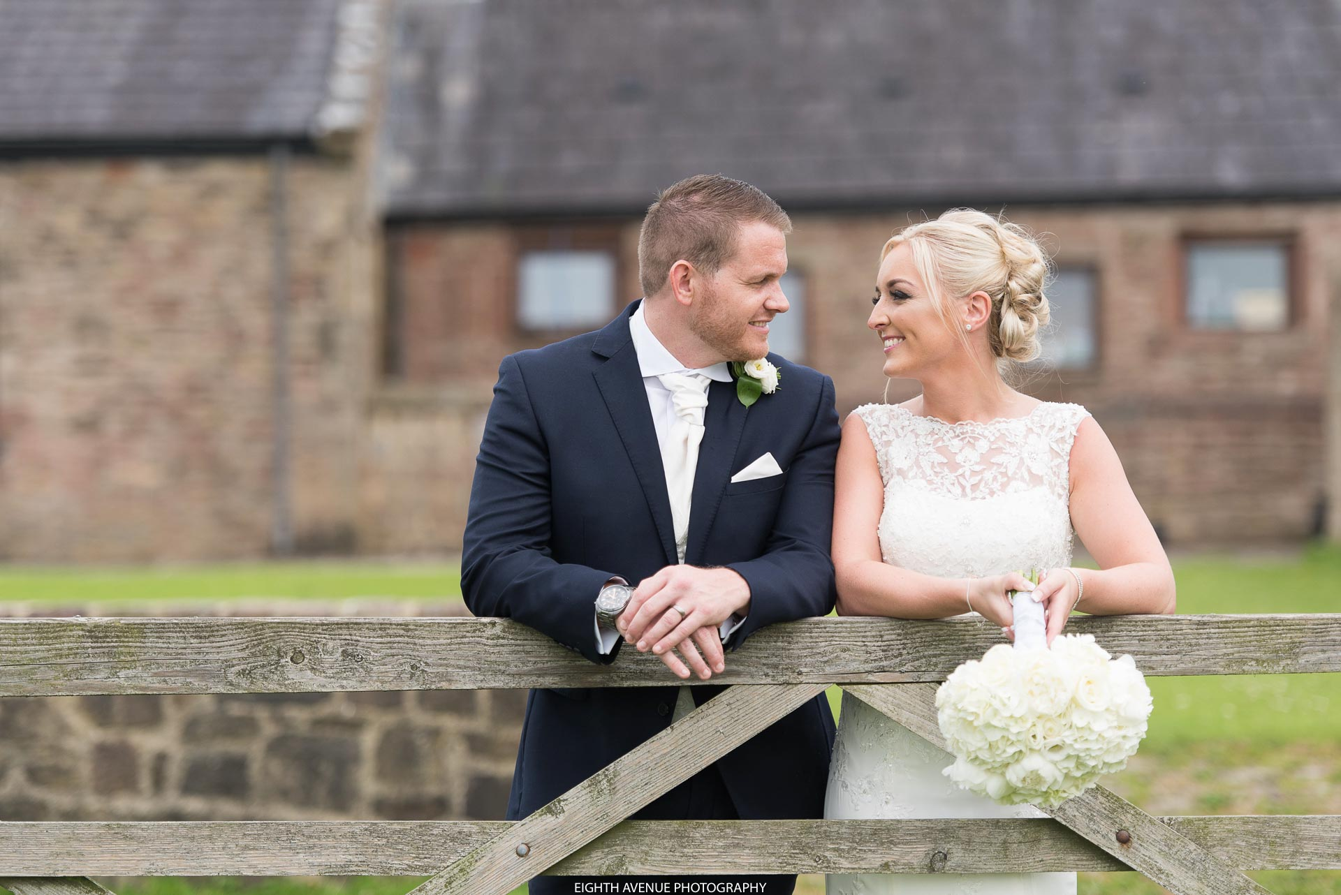 Bride and groom at their Beeston Manor wedding