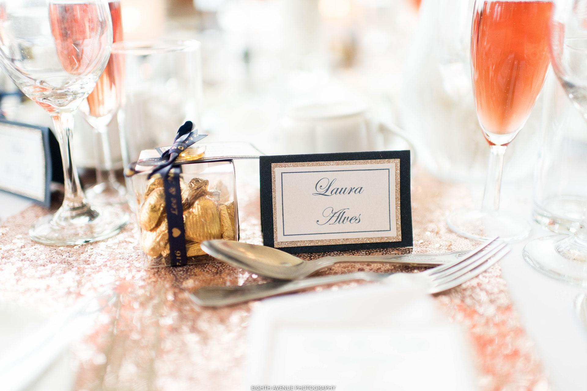 Wedding name cards at Beeston Manor