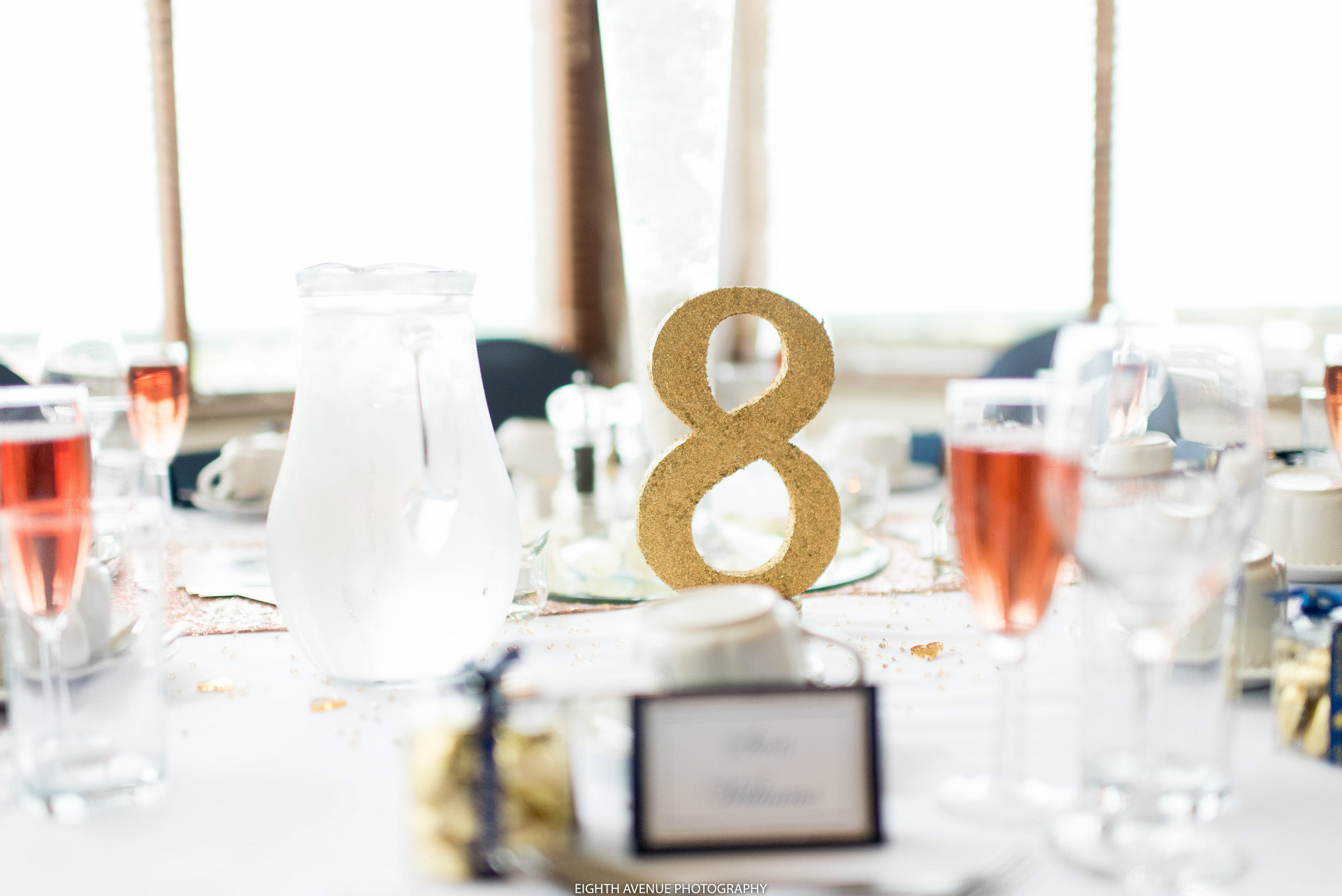 Table number at Beeston Manor wedding