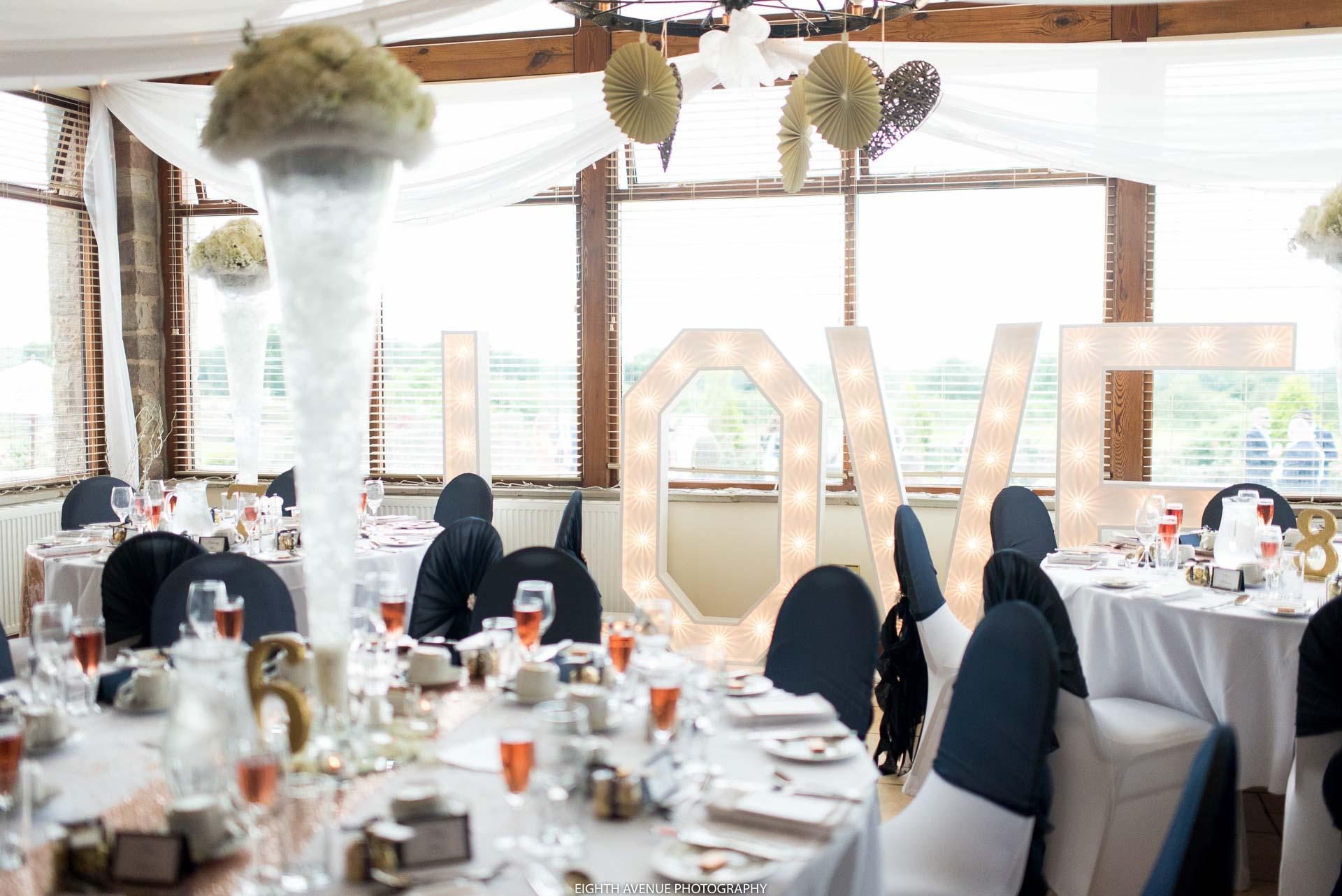 Wedding breakfast at Beeston Manor Wedding