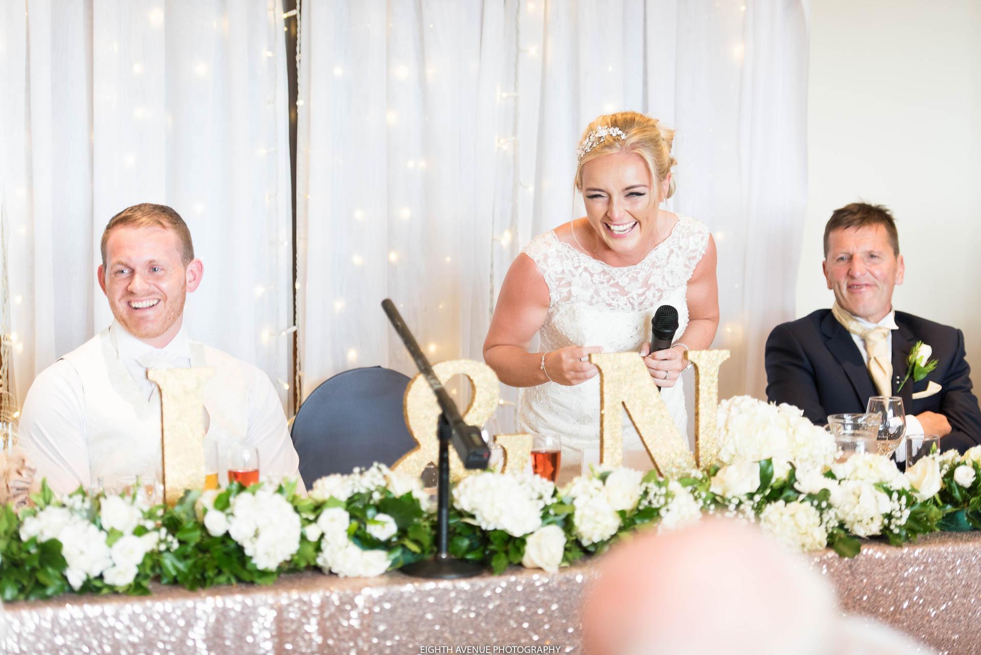 Bride's speech at Beeston Manor wedding
