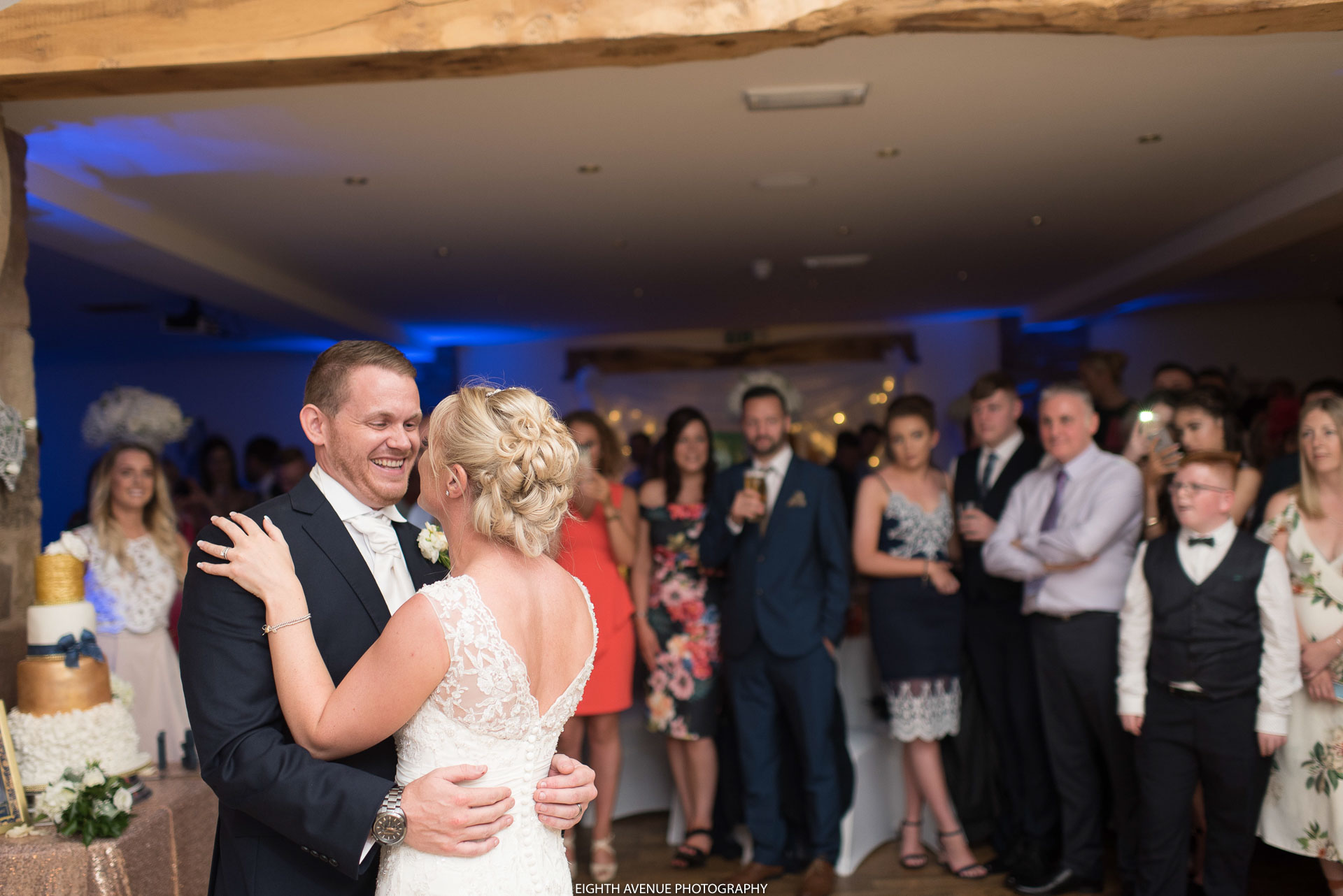 Bride and groom first dance at Beeston Manor
