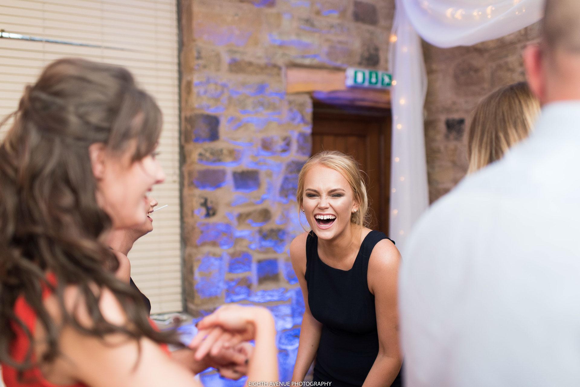 Wedding guest dancing at Beeston Manor