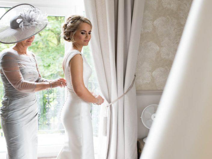 Lancashire Wedding Photographer Bride at Ashfield House