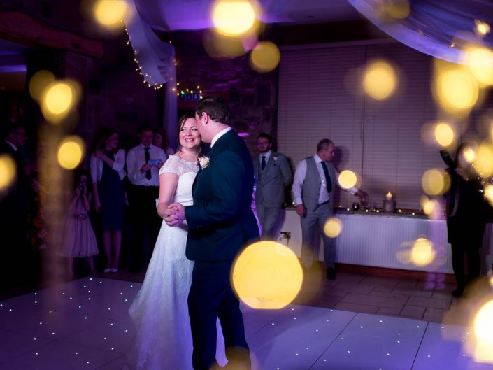 Bride and groom first dance Beeston Manor