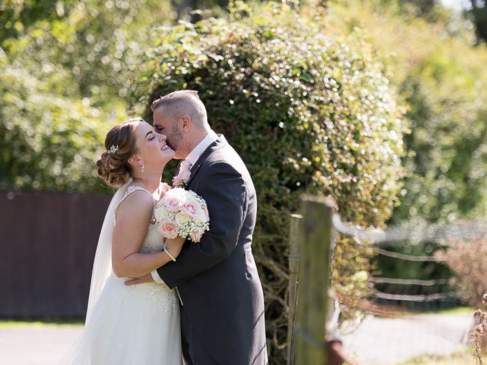 Bride and Groom at the Villa at Wrea Green Lancashire