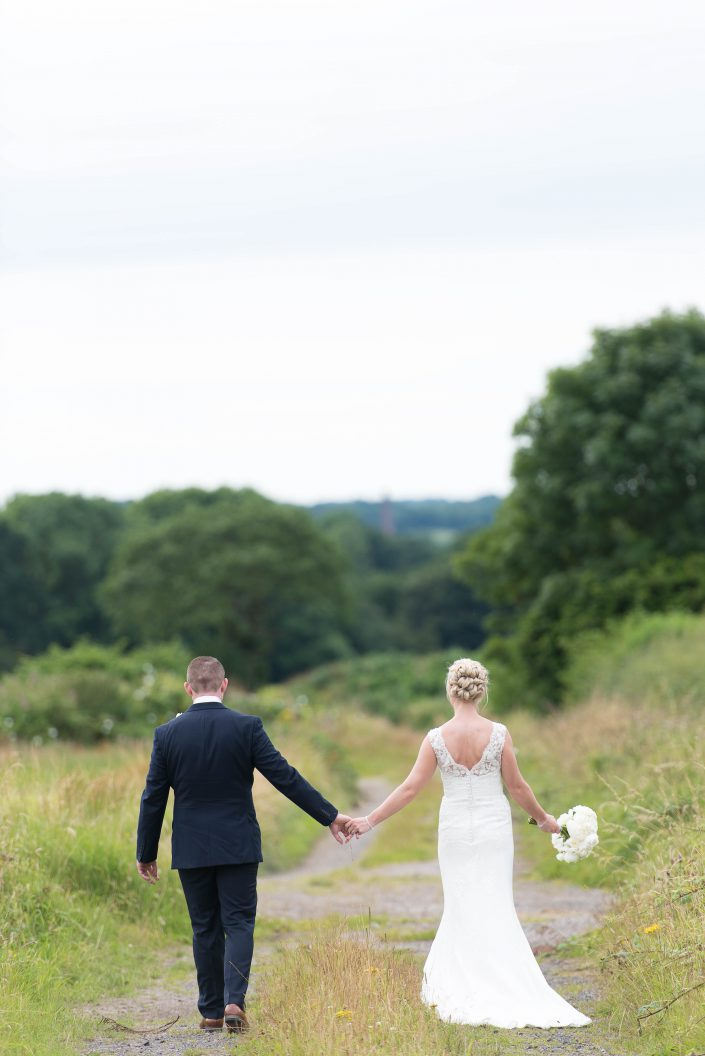 Bride and Groom at Beeston Manor