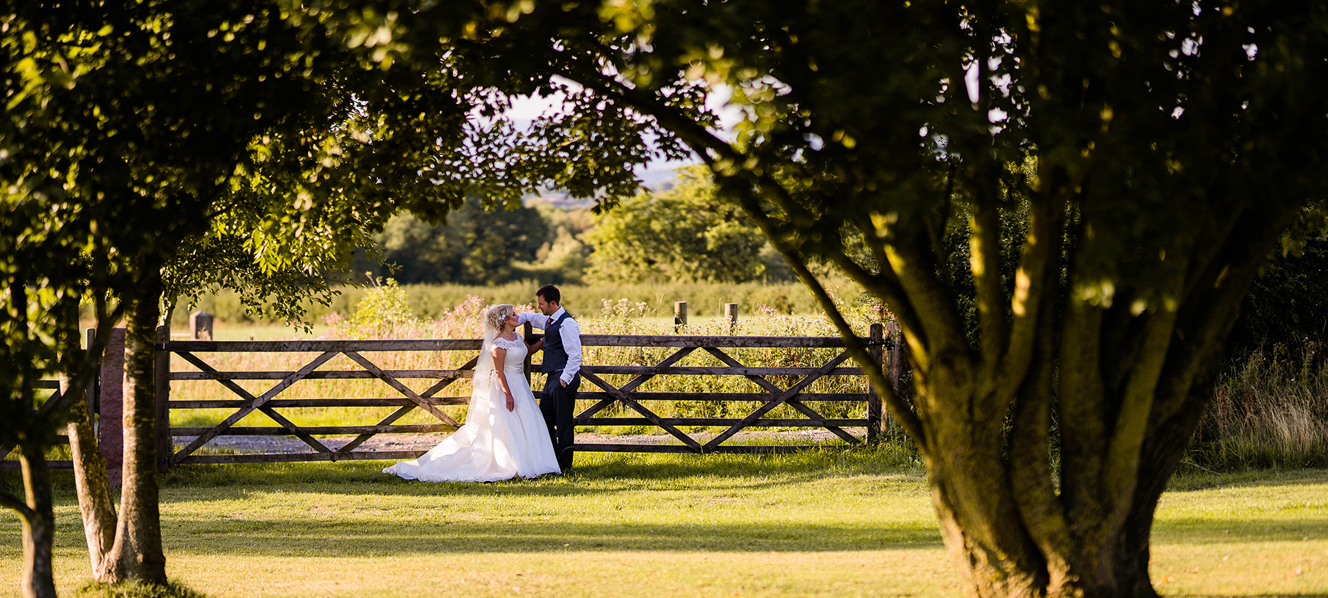 Bride and groom Beeston Manor Wedding
