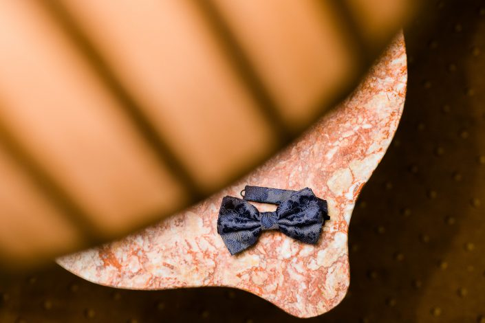 Groom's bow tie at Grange Hotel