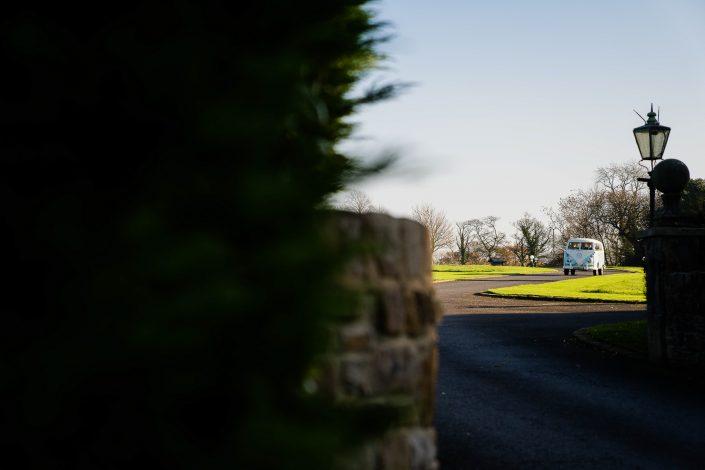 Camper van arriving at Beeston Manor