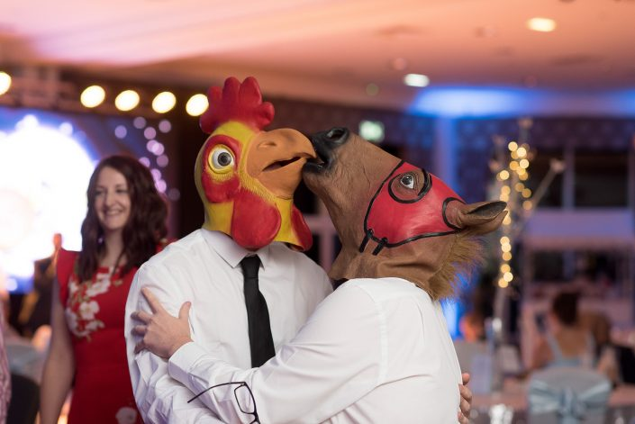 Horse and Chicken at wedding