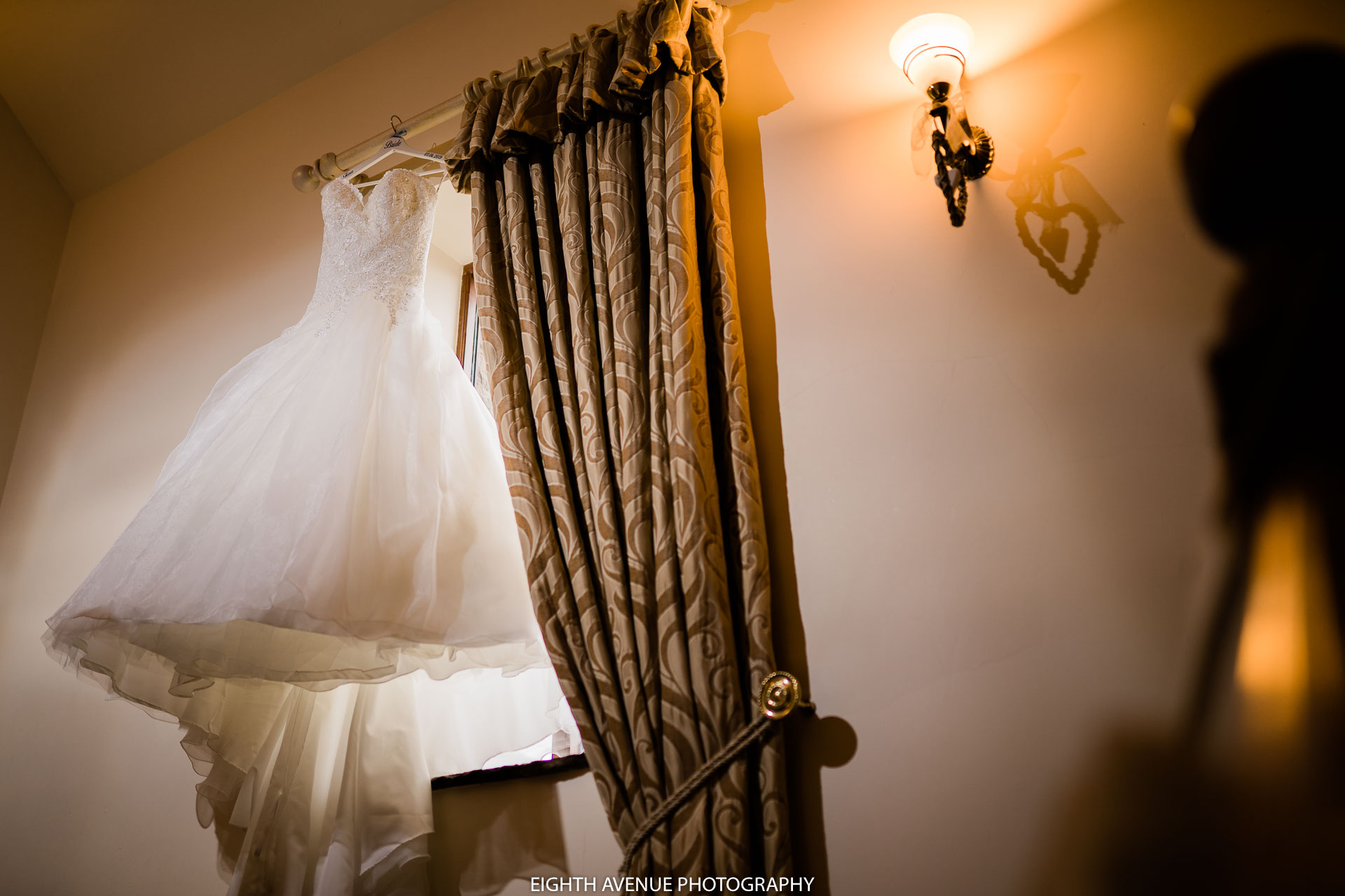 wedding dress at Beeston Manor