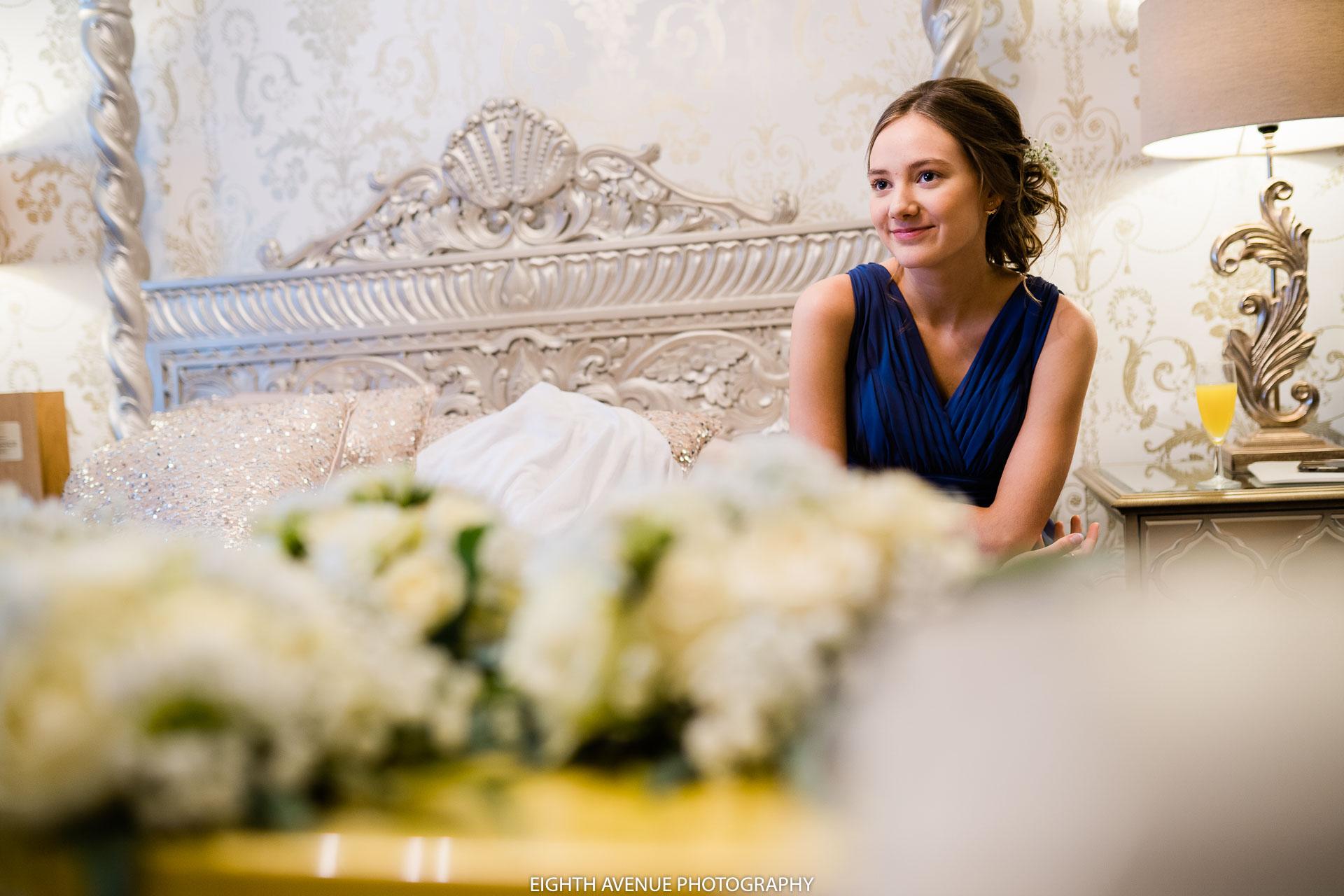 bridesmaid in morning