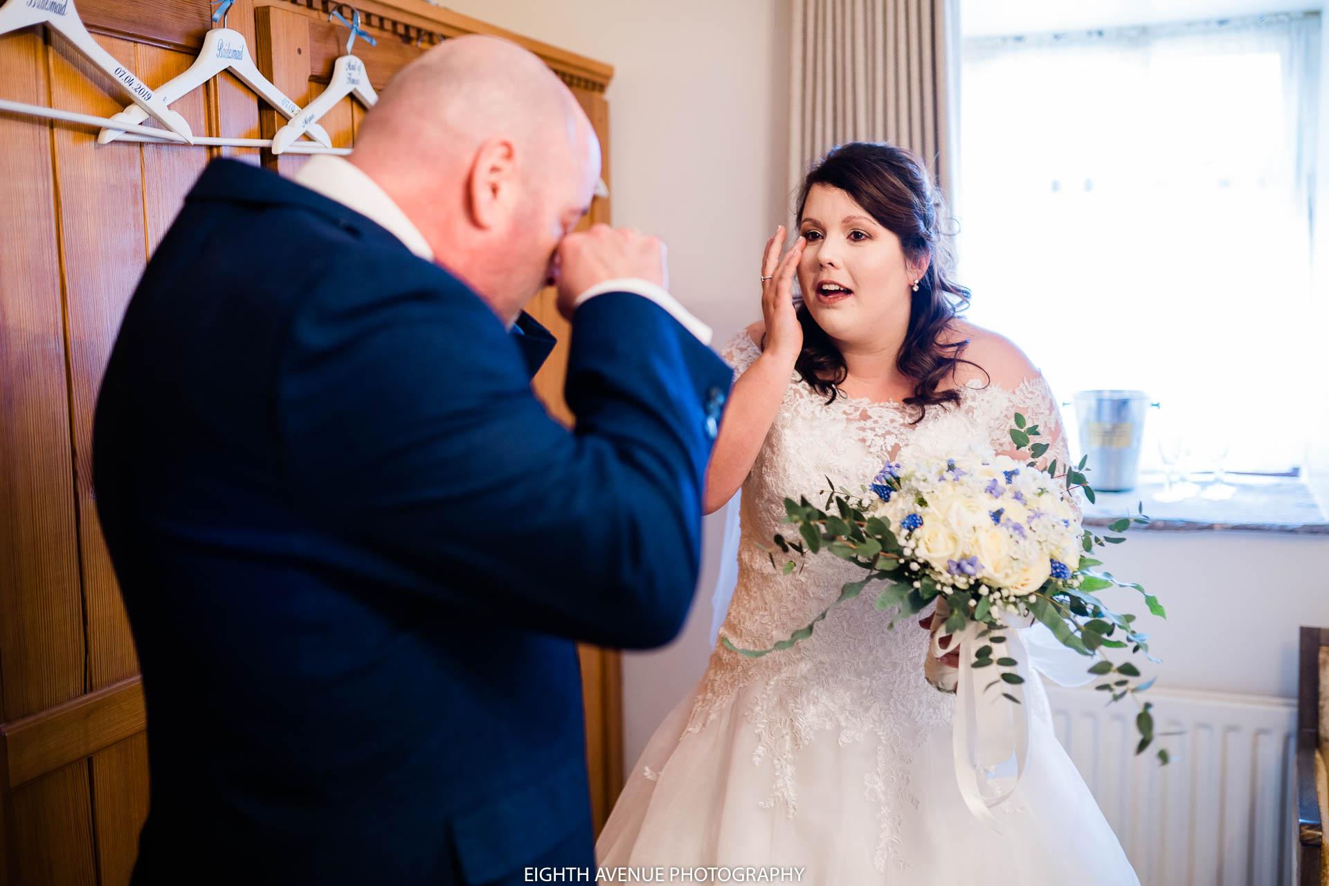 bride seeing father