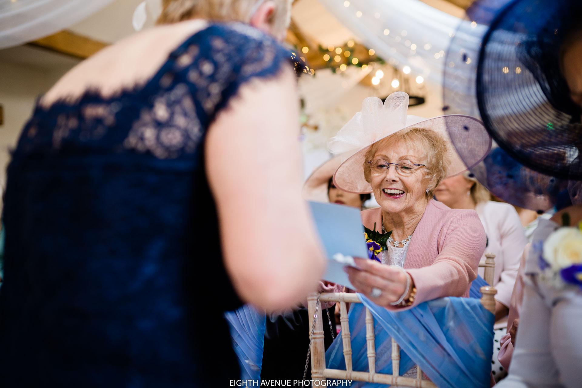 grandma before ceremony
