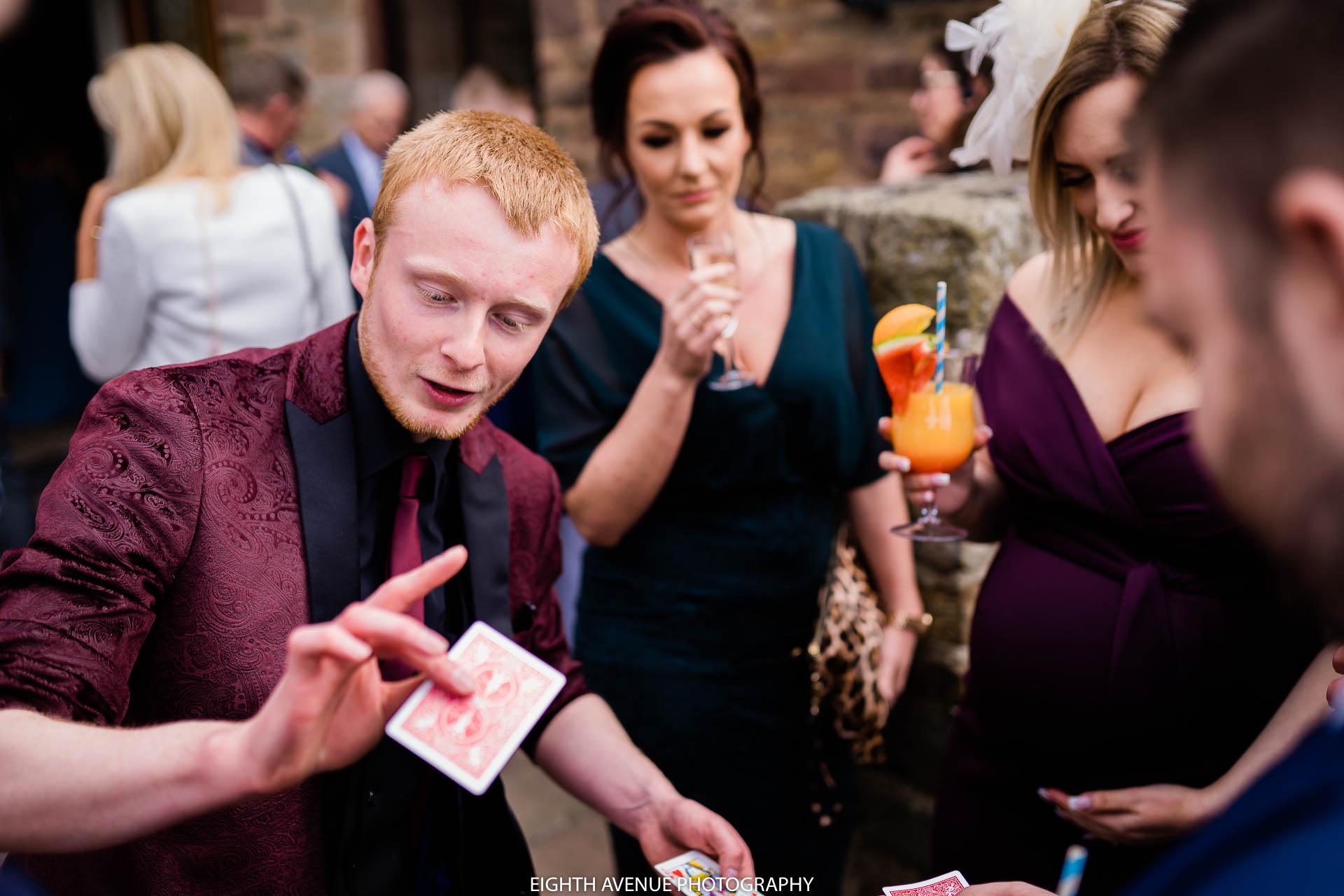 zanda magic entertaining wedding guests