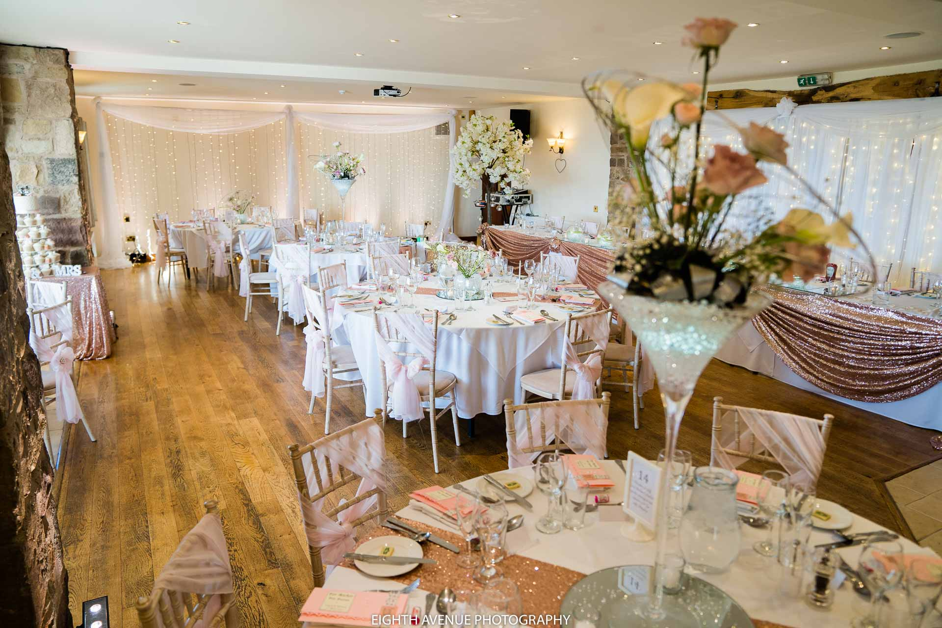 Wedding breakfast Woodland Beeston manor