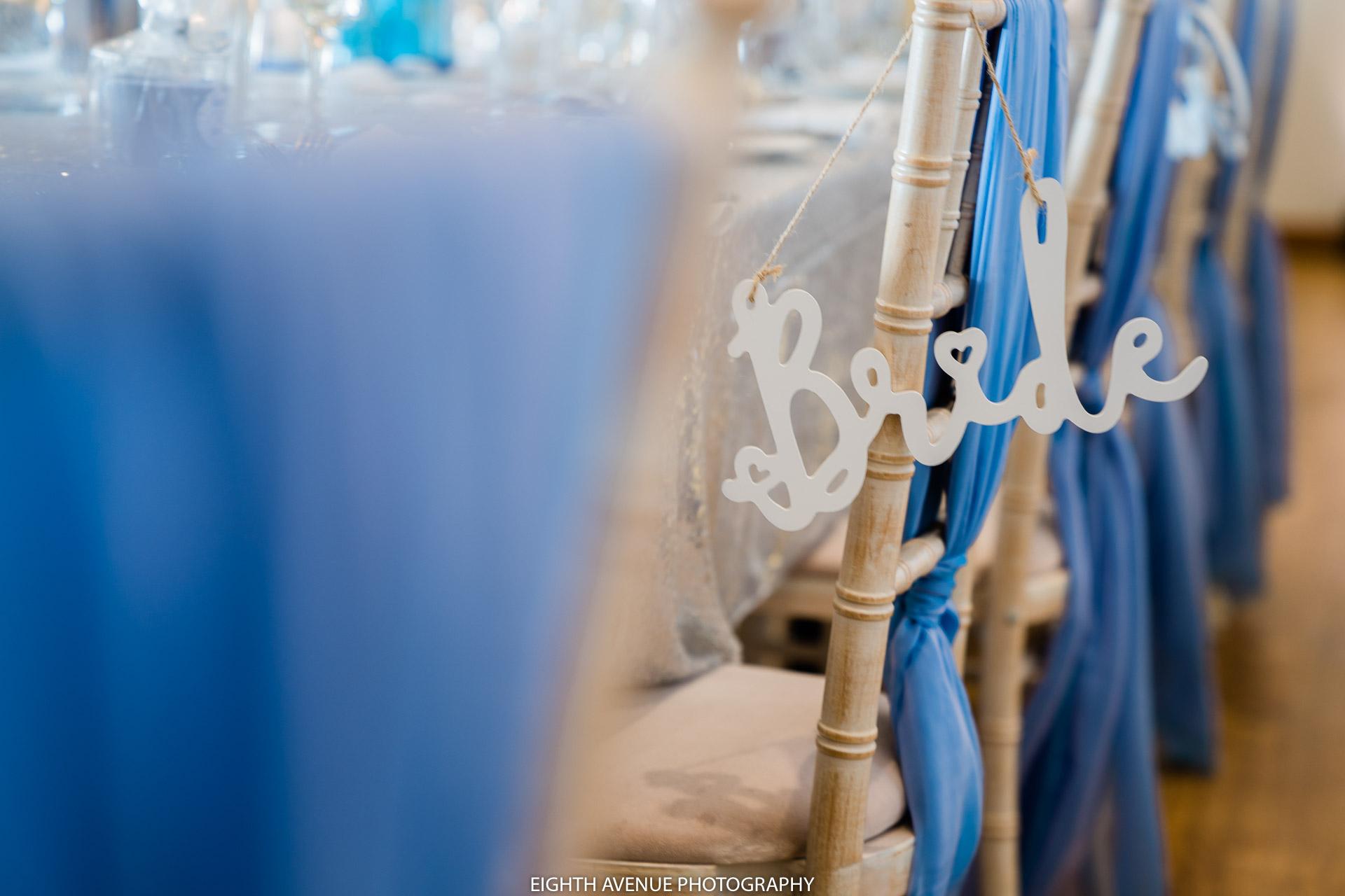 chair in wedding breakfast