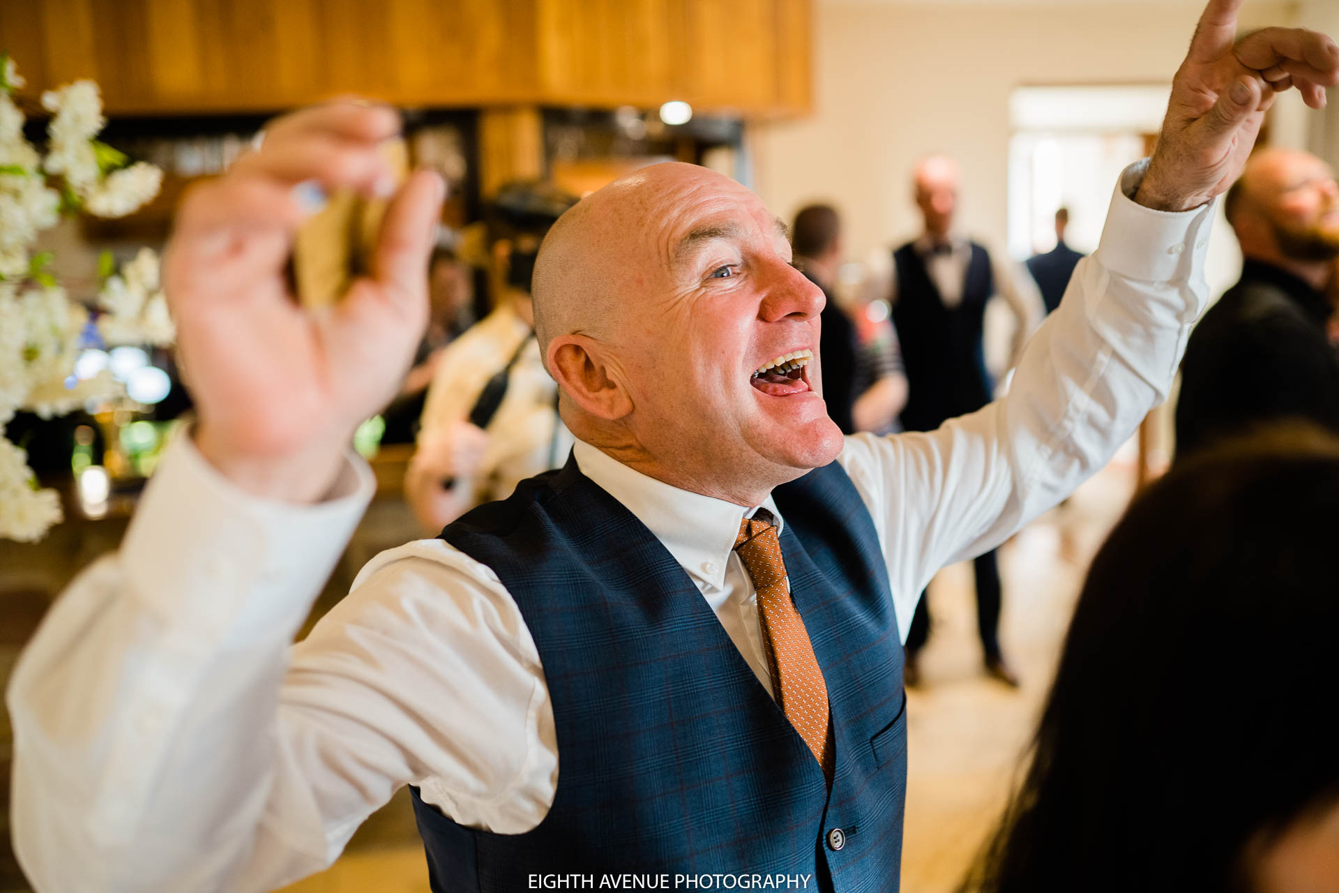 Father of the groom singing