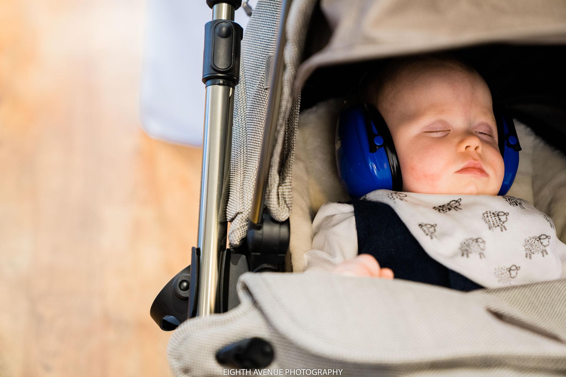 little boy asleep at wedding