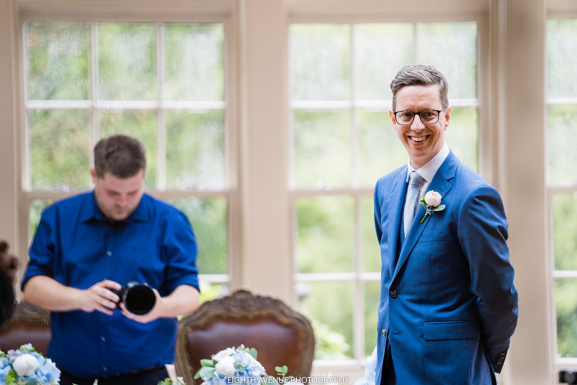 groom awaiting the bride