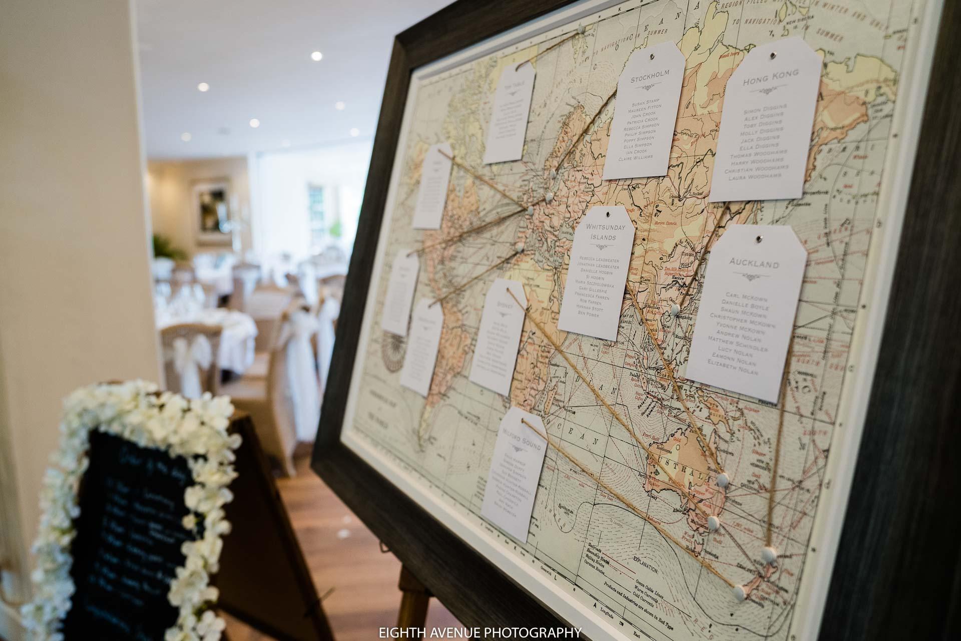 Wedding seating plan map