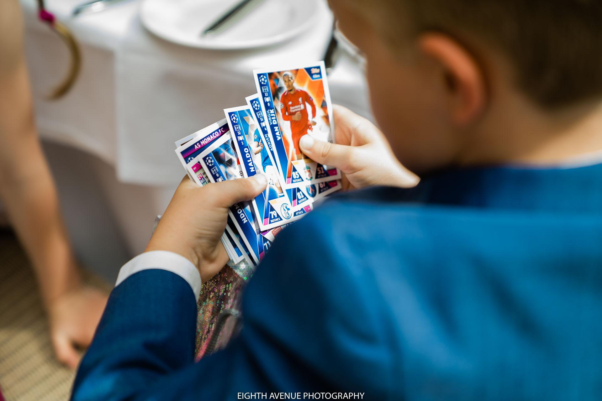 boy playing wedding