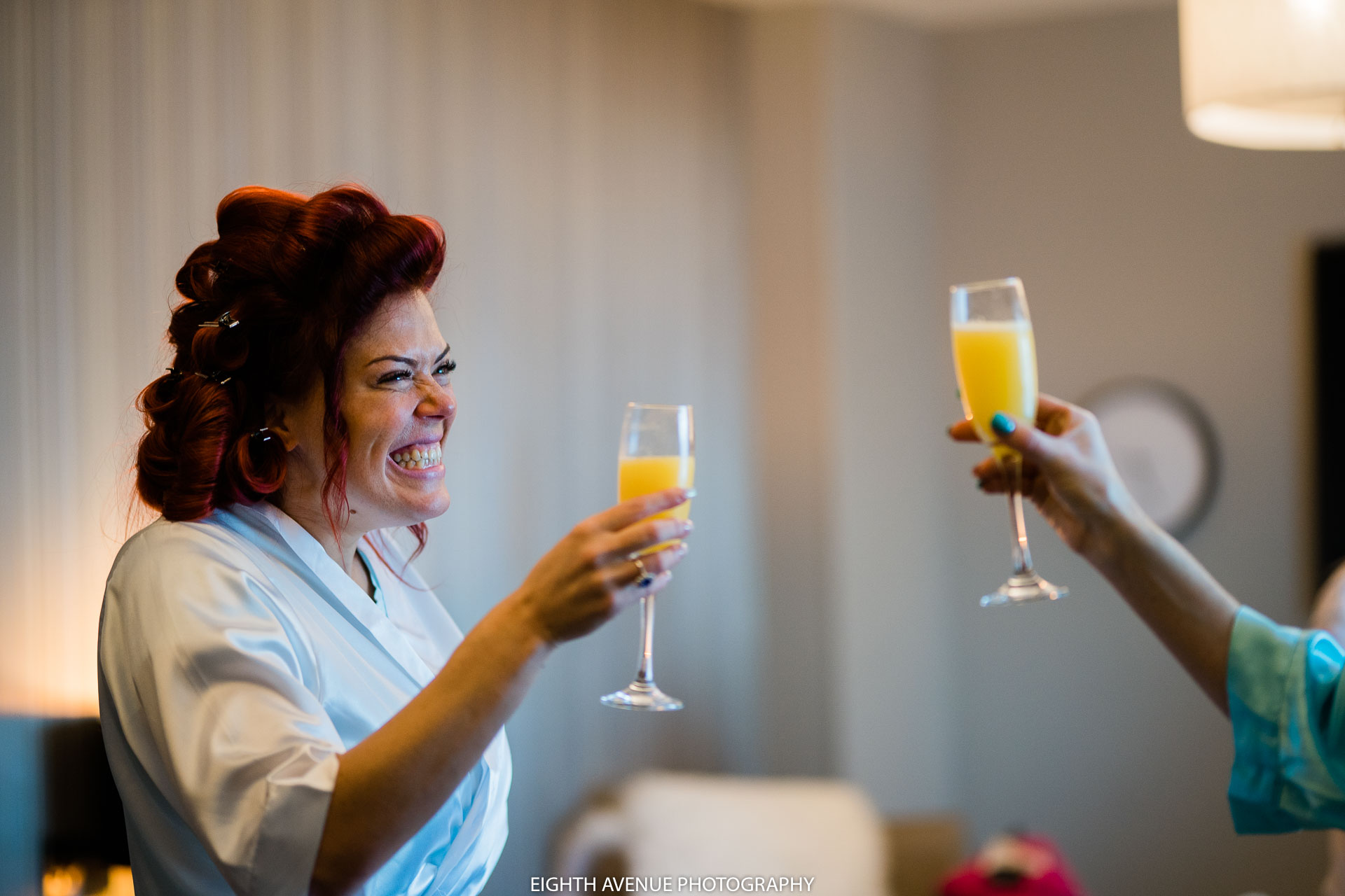 Bride cheers