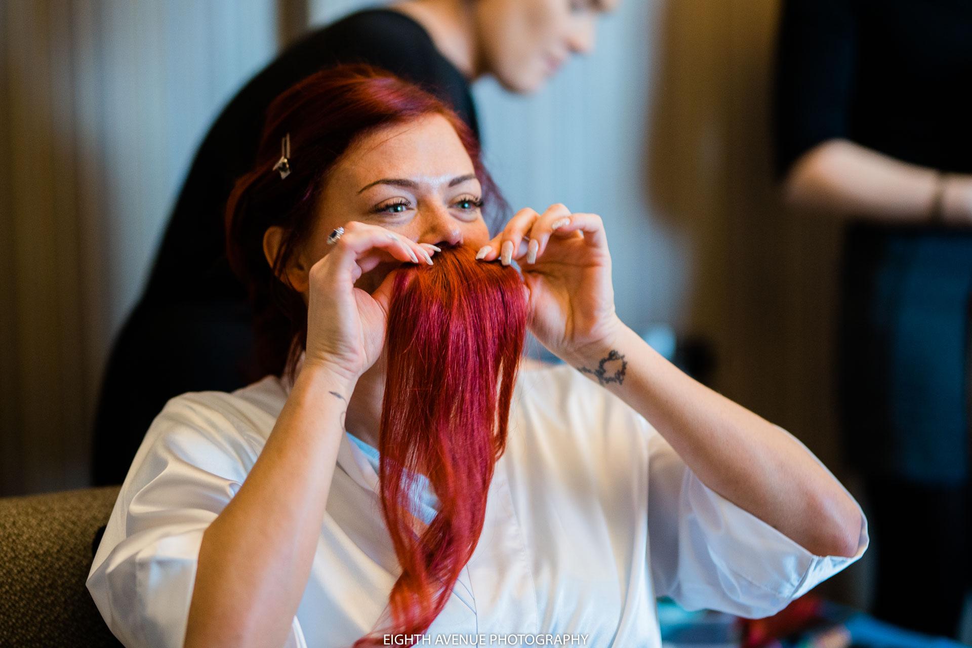 Bride with moustache